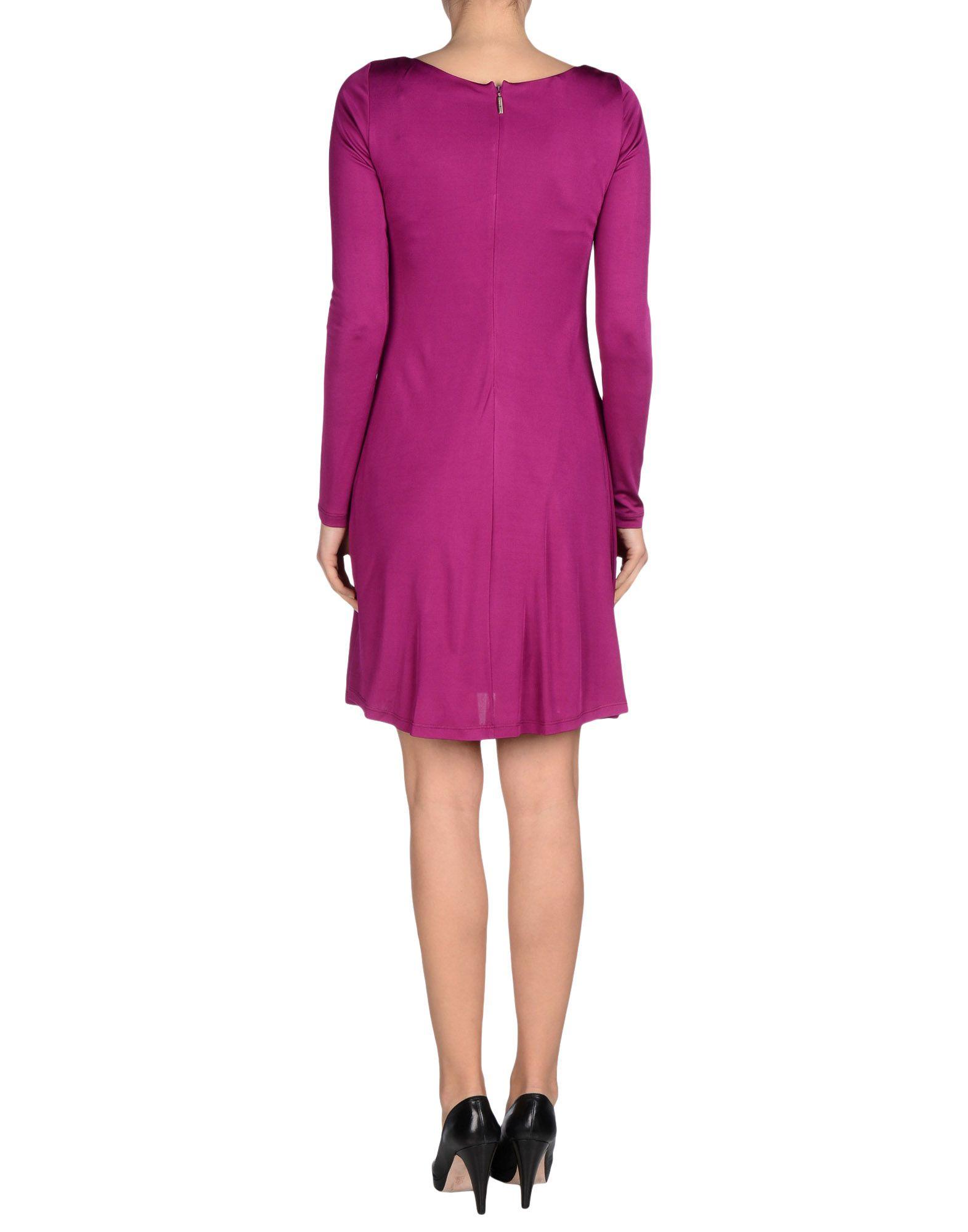 versace jeans short dress in purple lyst