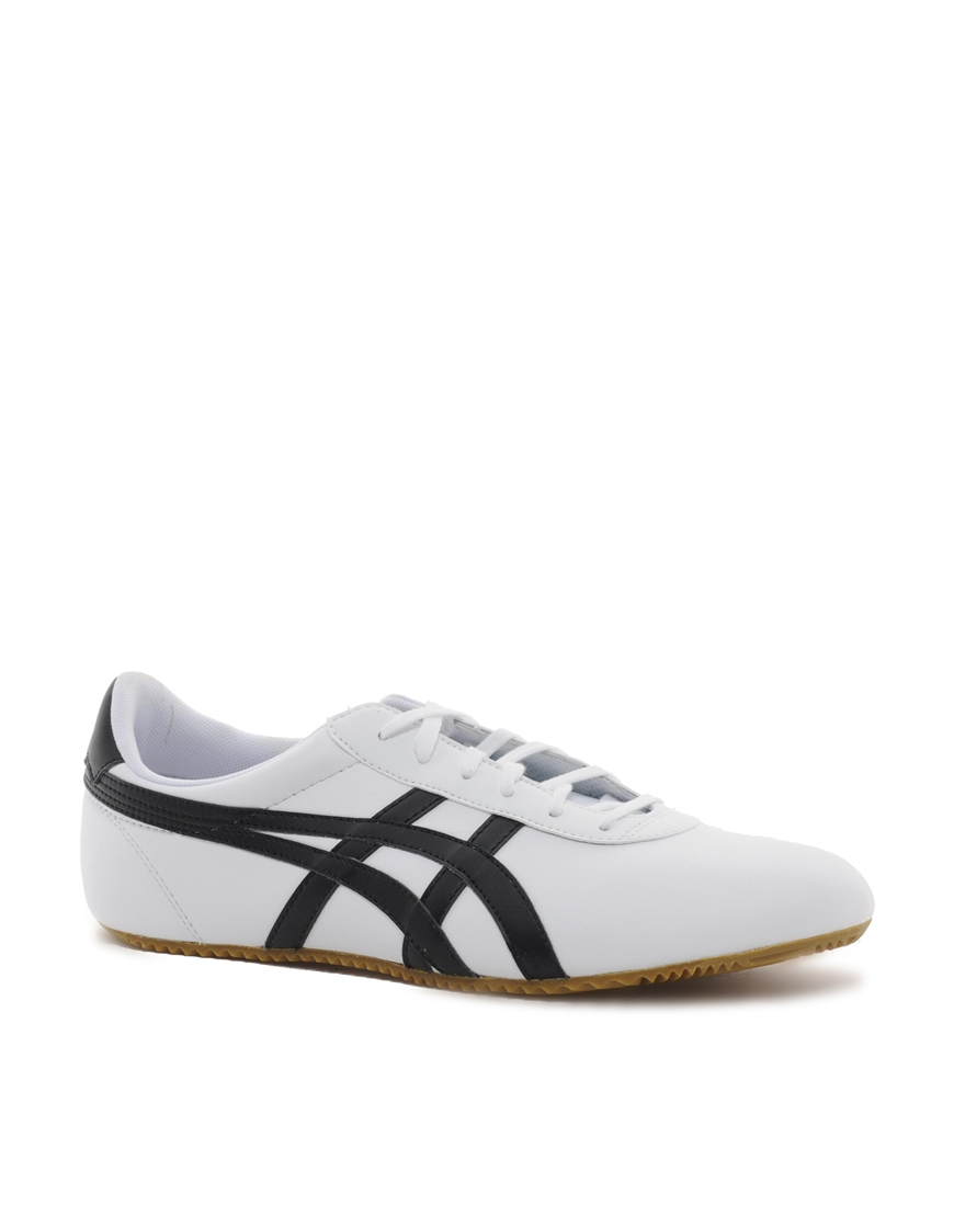 new styles 37e56 5e74a Men's White Tai Chi Leather Plimsolls
