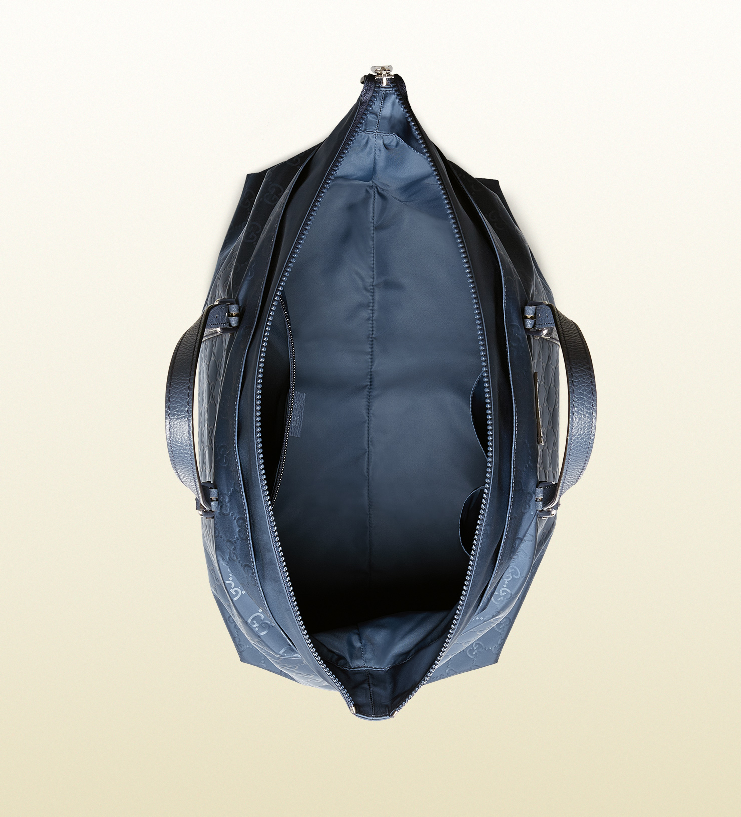 5b7e3571cff Lyst - Gucci Nylon Ssima Light Duffle Bag in Blue
