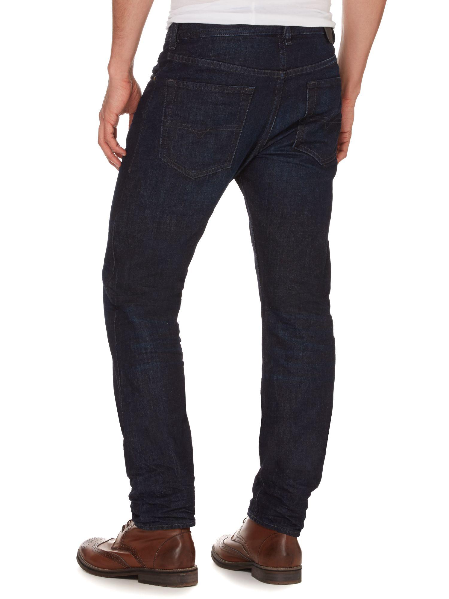 diesel buster 823k dark wash tapered jeans in blue for men lyst. Black Bedroom Furniture Sets. Home Design Ideas