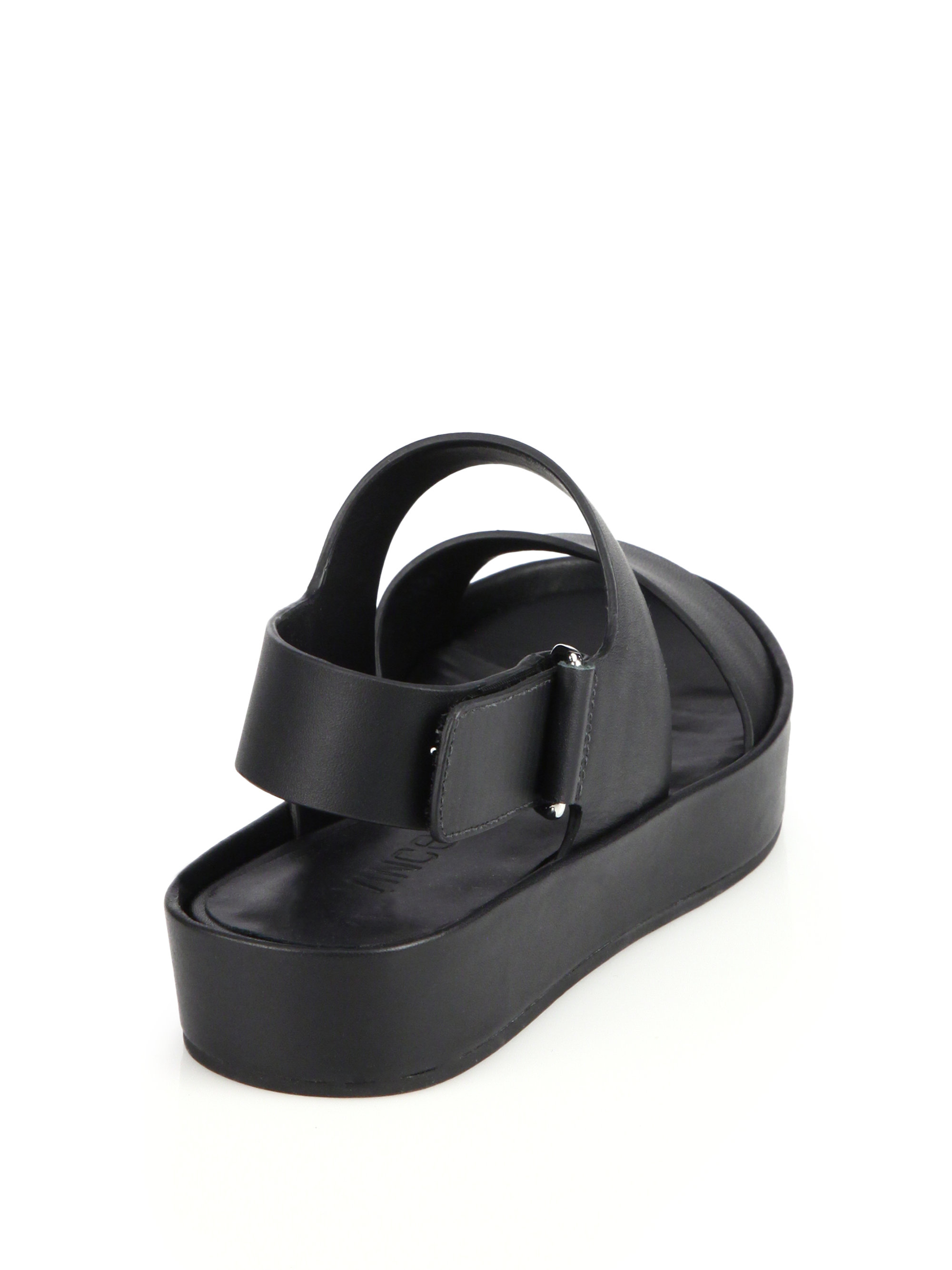 8282a9be3d9 Lyst - Vince Marett Double-Strap Leather Sandals in Black
