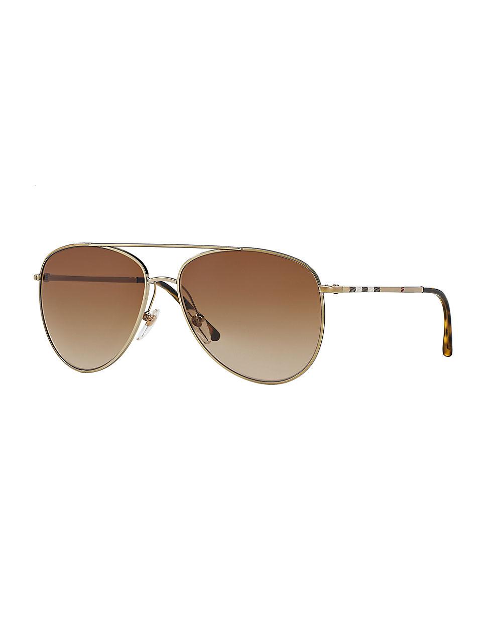 b6011ed66d12 Burberry Aviator Sunglasses in Metallic for Men