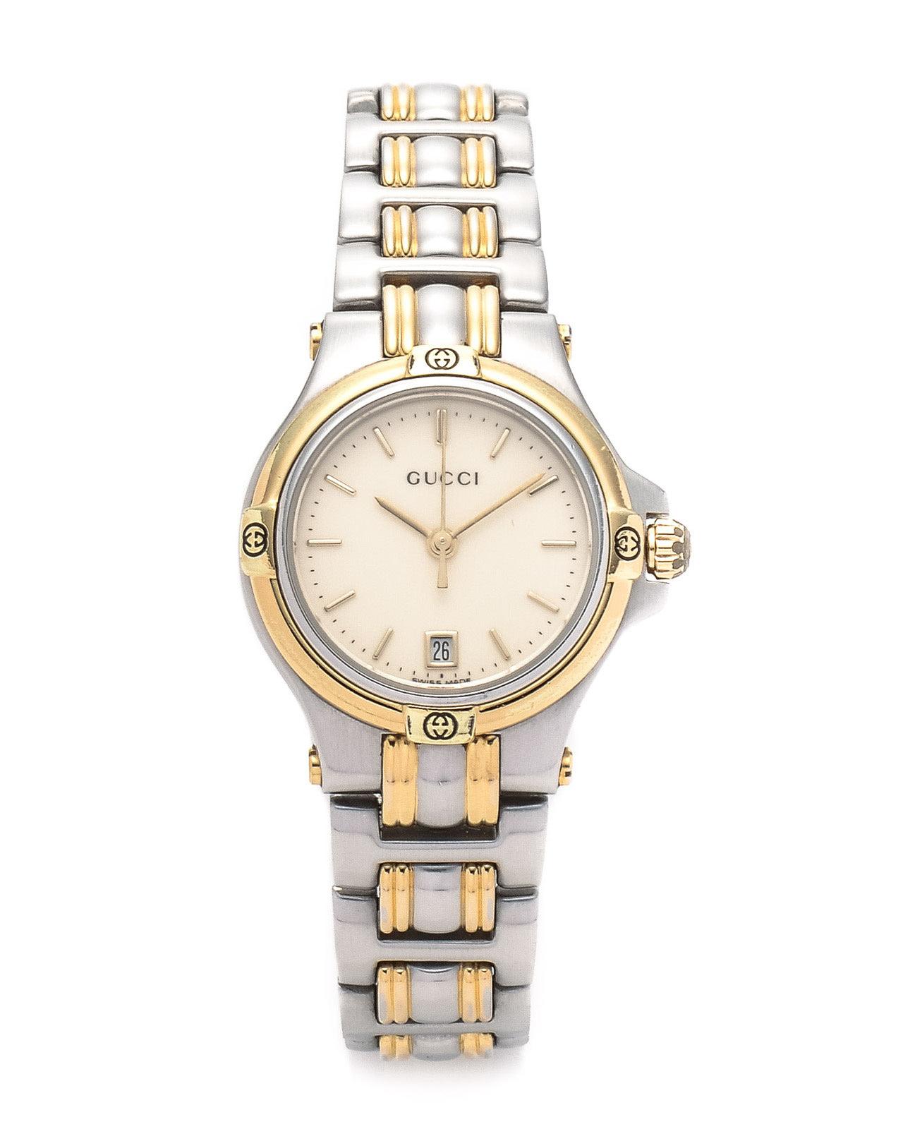 Gucci Silver 9040L Timepiece Watch in Metallic | Lyst