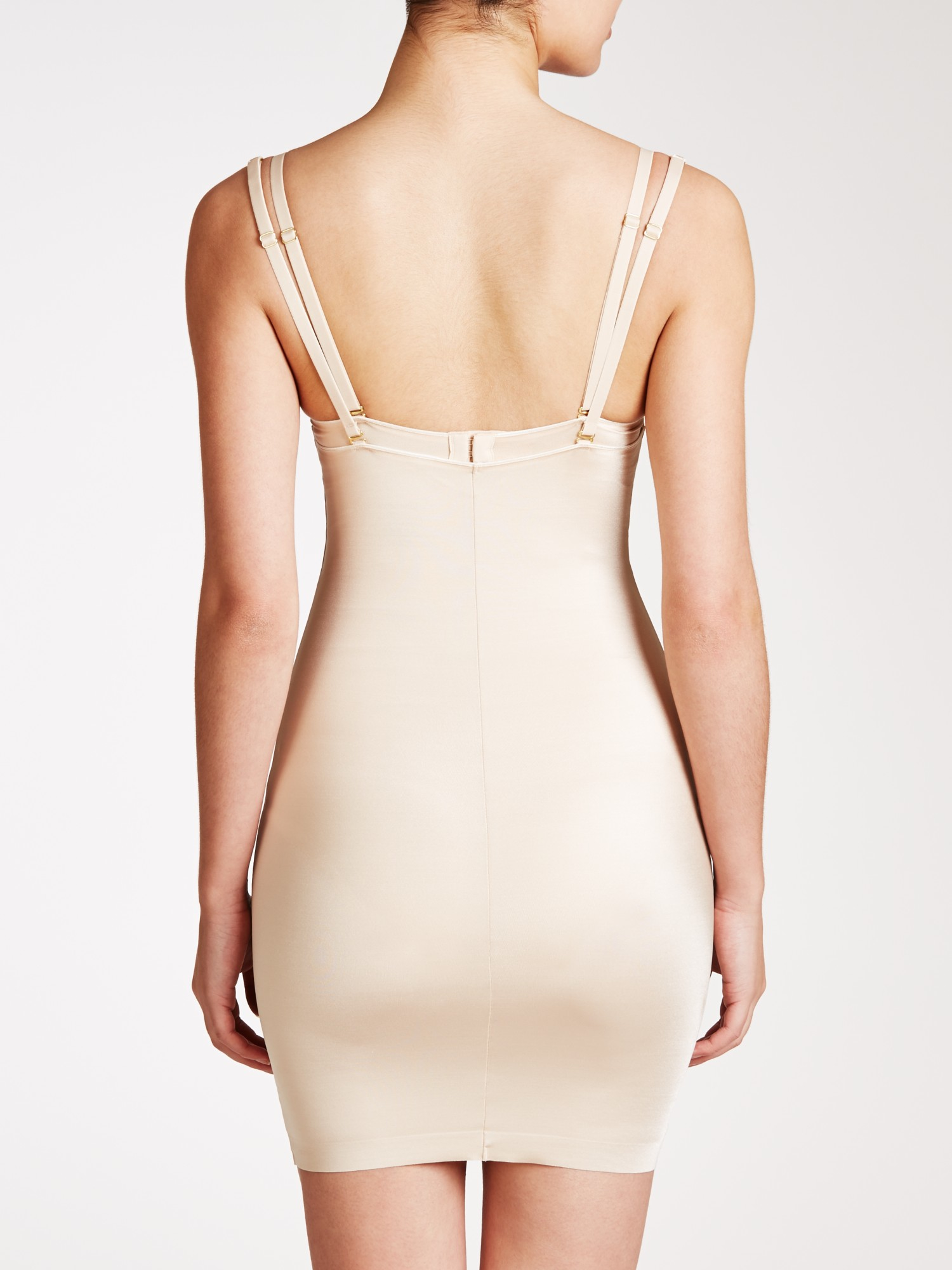 741f1bf21 John Lewis Firm Control Open Bust Slip in Natural - Lyst