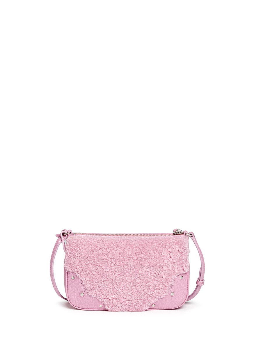 Lyst Coach Small Rhyder Shearling Panel Leather