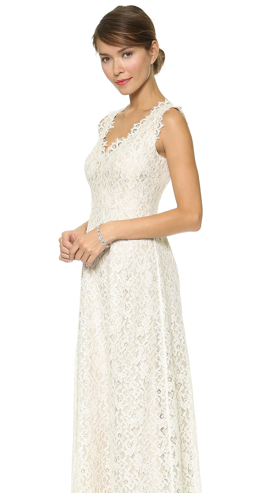 Lace Sierra Gown Ivory