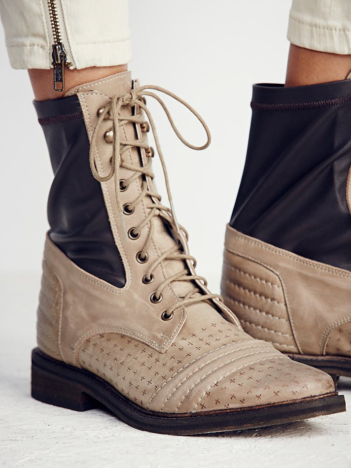 b99708cf36827 Lyst - Free People Sounder Lace Up Boot in Brown