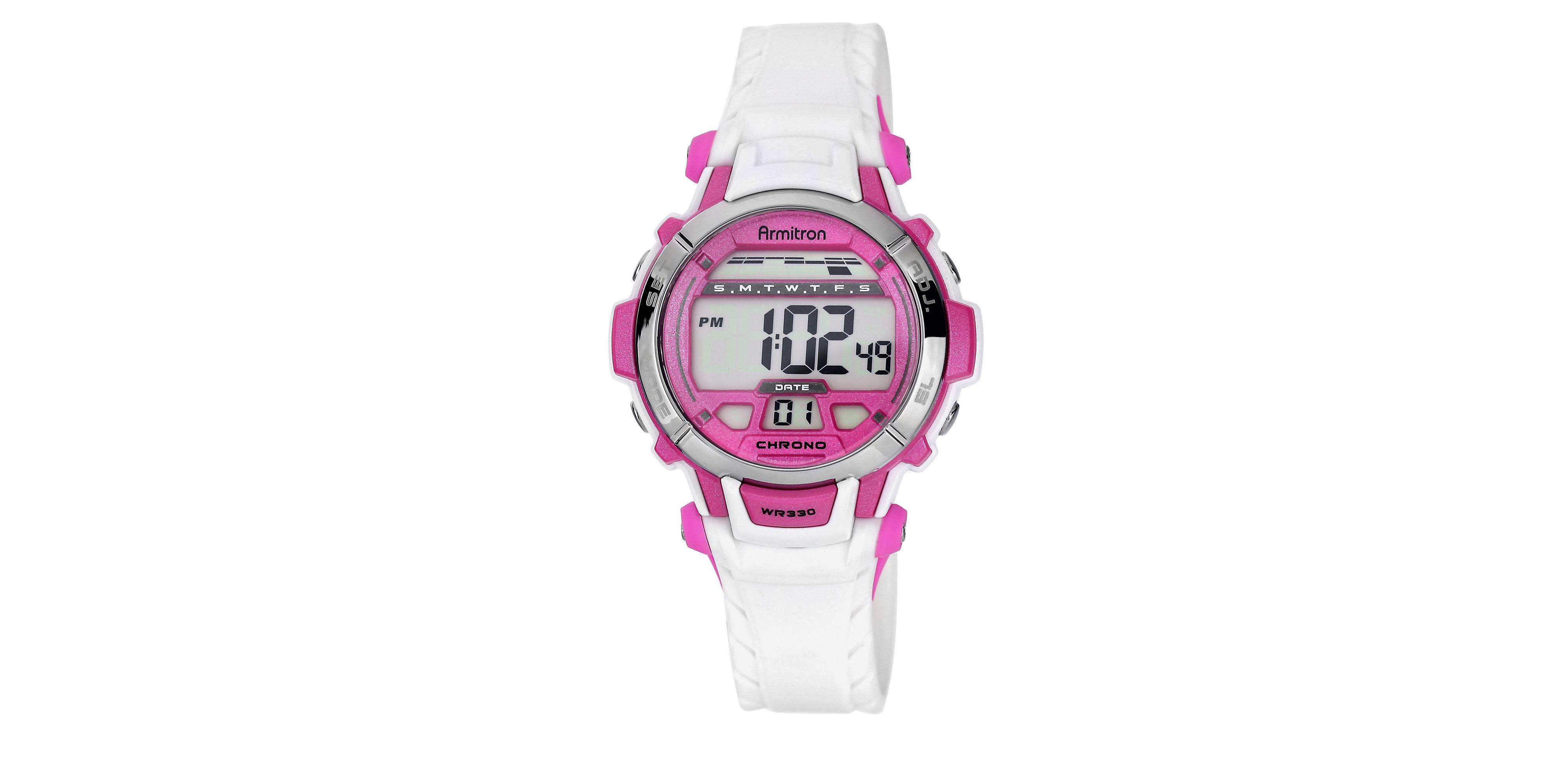 armitron all sport digital chronograph in pink