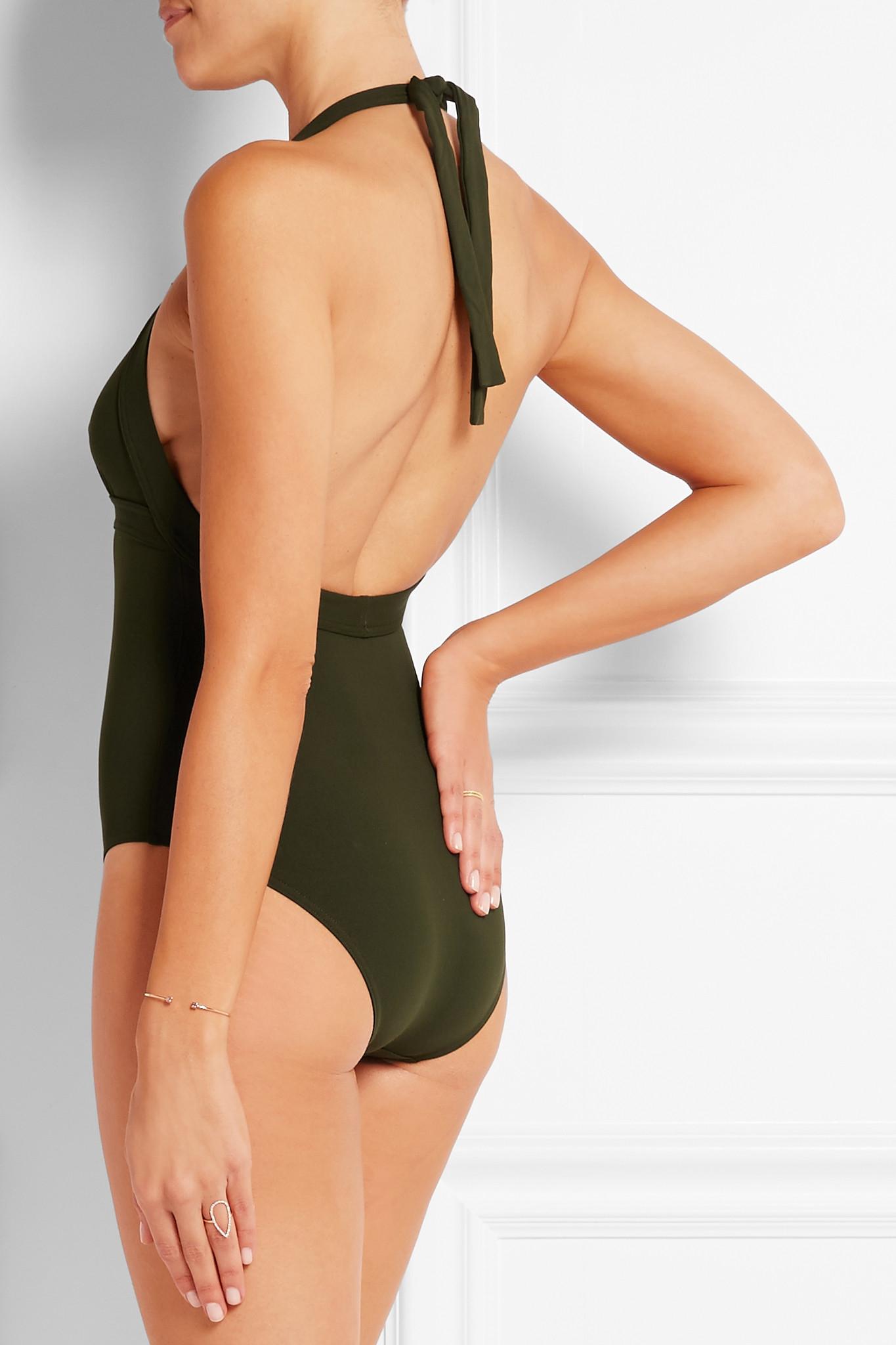 abe46b735eda0 Eres Les Essentiels Cassis Halterneck Swimsuit in Green - Lyst