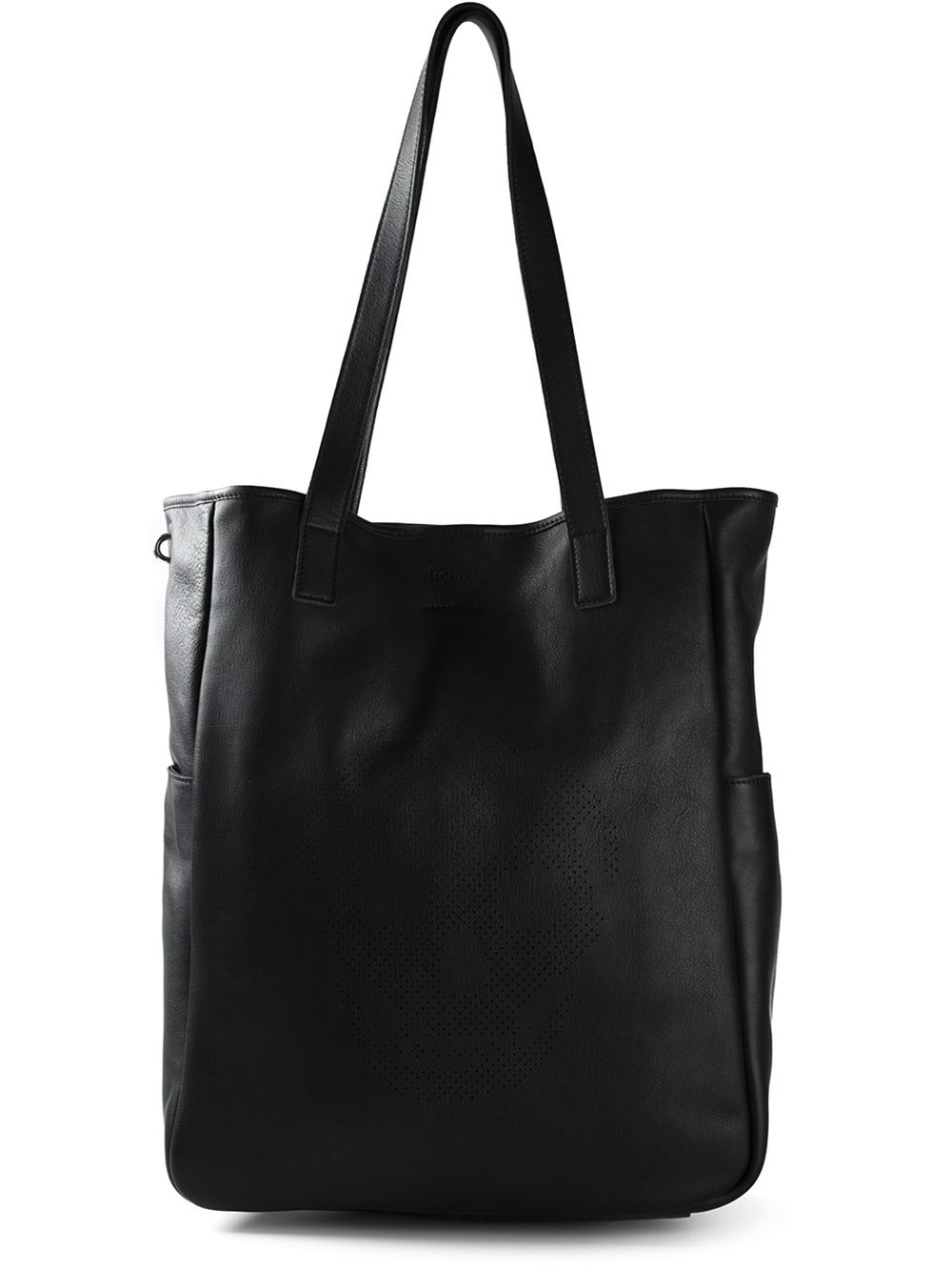 Alexander McQueen Perforated Skull Tote in Black for Men