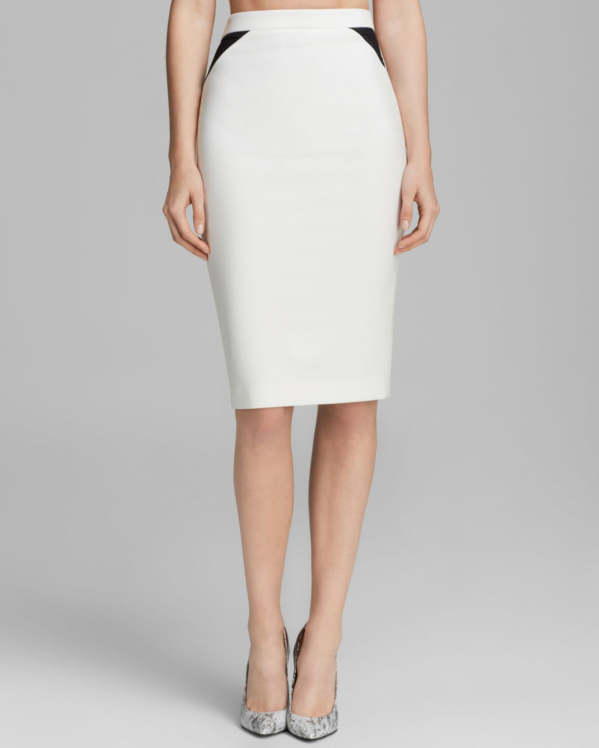 elizabeth and pencil skirt in white lyst