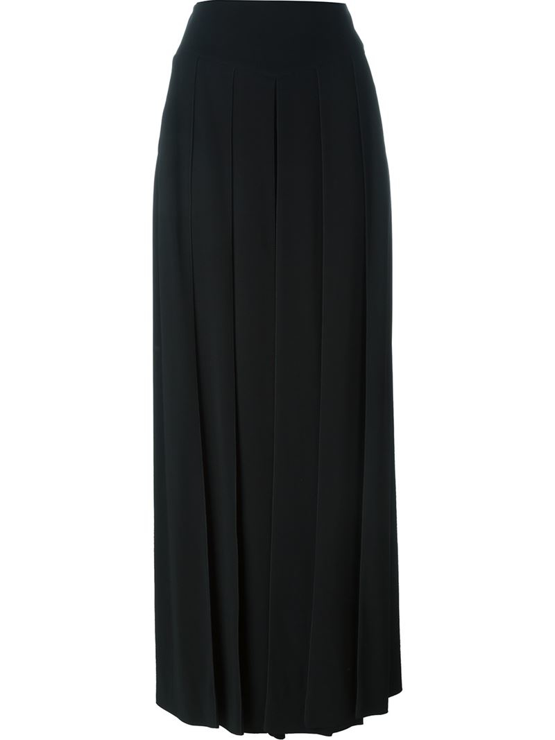 givenchy pleated maxi skirt in black lyst