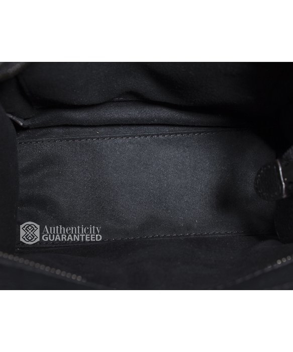 C��line Pre-owned Black Drummed Leather Nano Luggage Tote Bag in ...