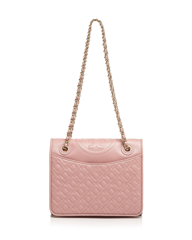 e5835a089d5 Lyst - Tory Burch Shoulder Bag - Fleming Patent Medium in Pink