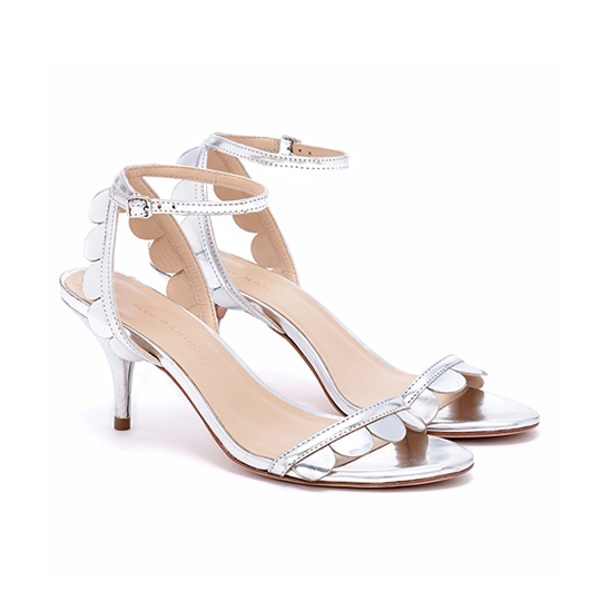 Loeffler randall Lillit Kitten Heel Sandal in Metallic | Lyst