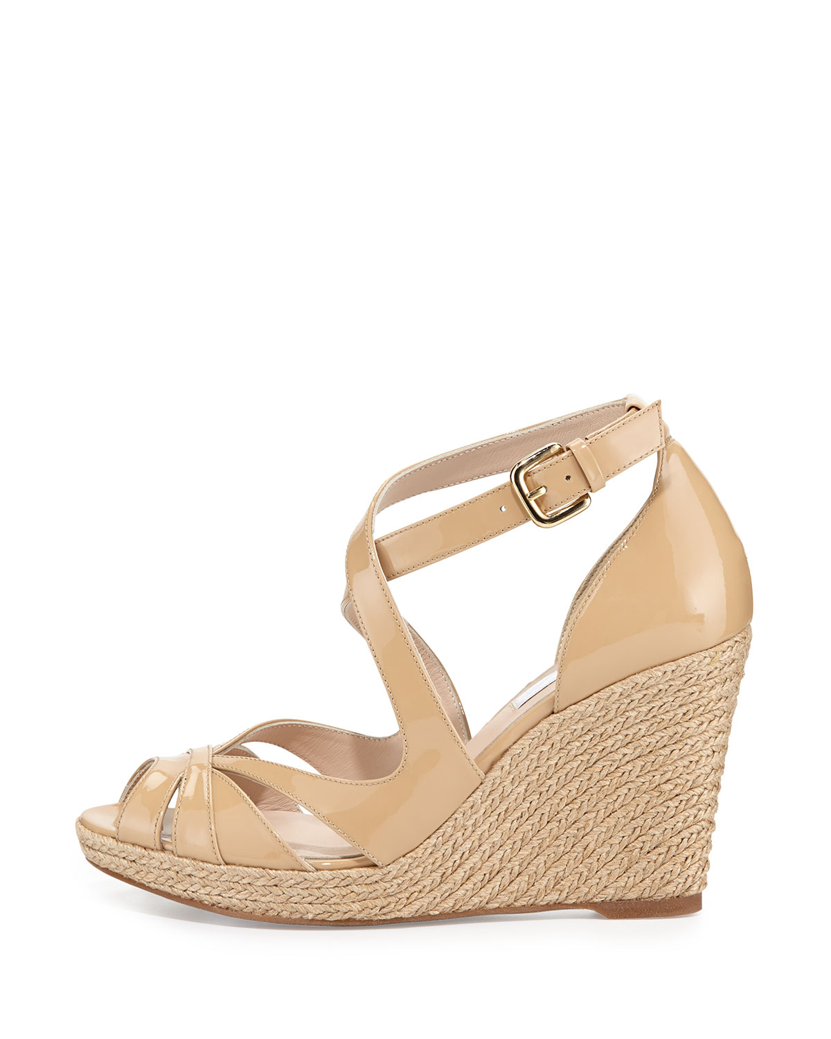 a4eaf8cb9fbe Lyst - L.K.Bennett Maggie Patent Espadrille Sandal in Brown