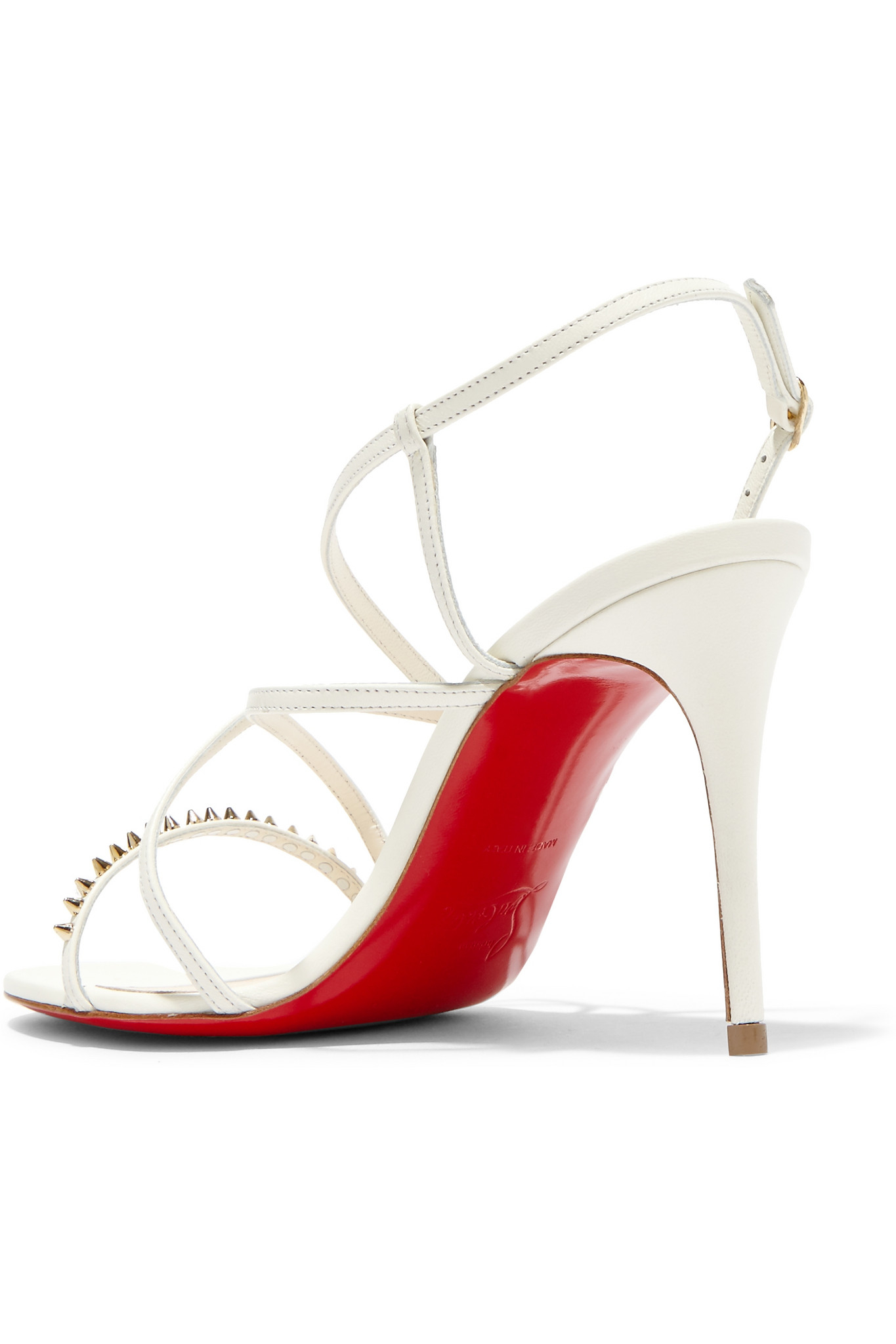 Christian Louboutin Gwinispike 85 Leather Sandals discount fake outlet deals sale sneakernews low price fee shipping sale online rcTg1X8YD
