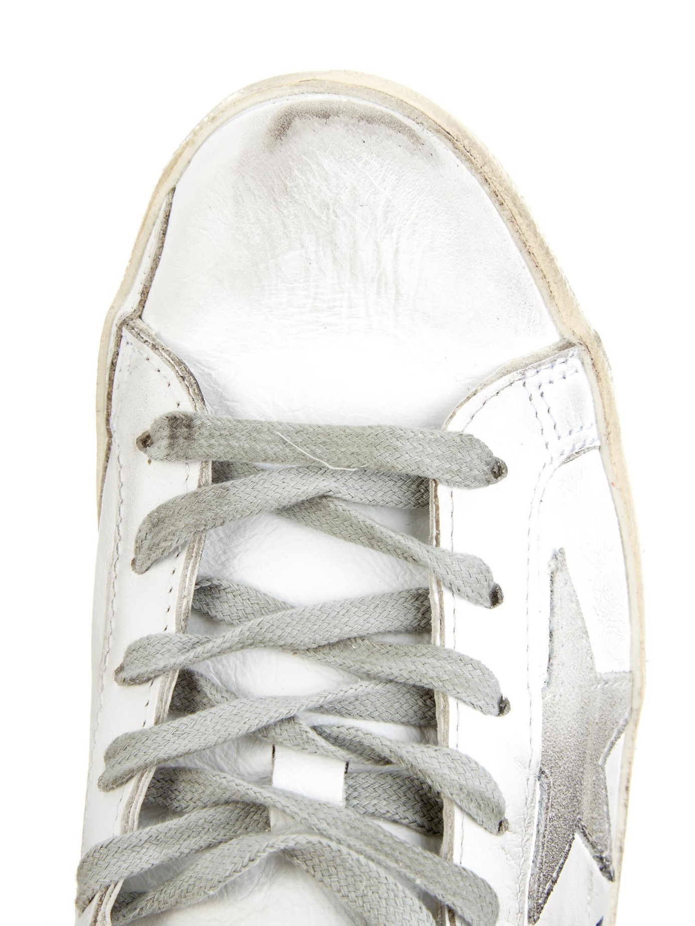 Golden Goose Deluxe Brand Superstar Embellished-Leather Trainers in White