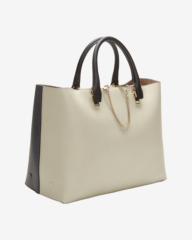 see by chloe bags shop online - Chlo�� Baylee Medium Colorblock Tote in Black (grey) | Lyst