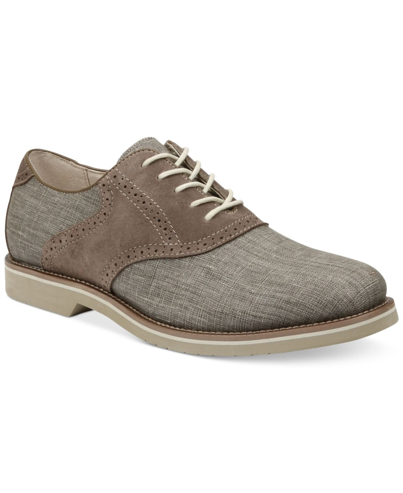 g h bass co bass carson saddle oxfords in gray for