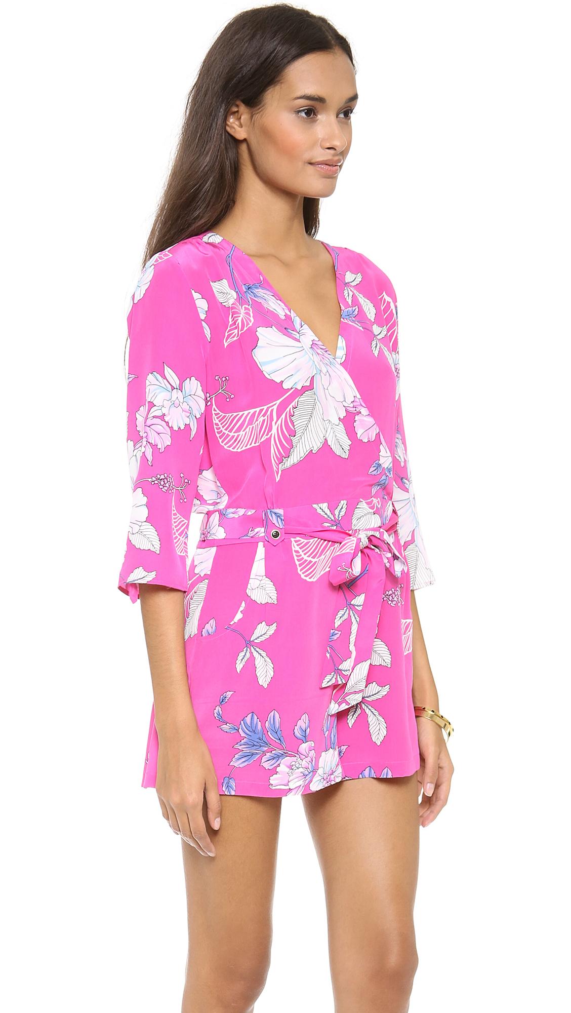 0ca5fb236dd Lyst - Yumi Kim Liz Romper in Pink