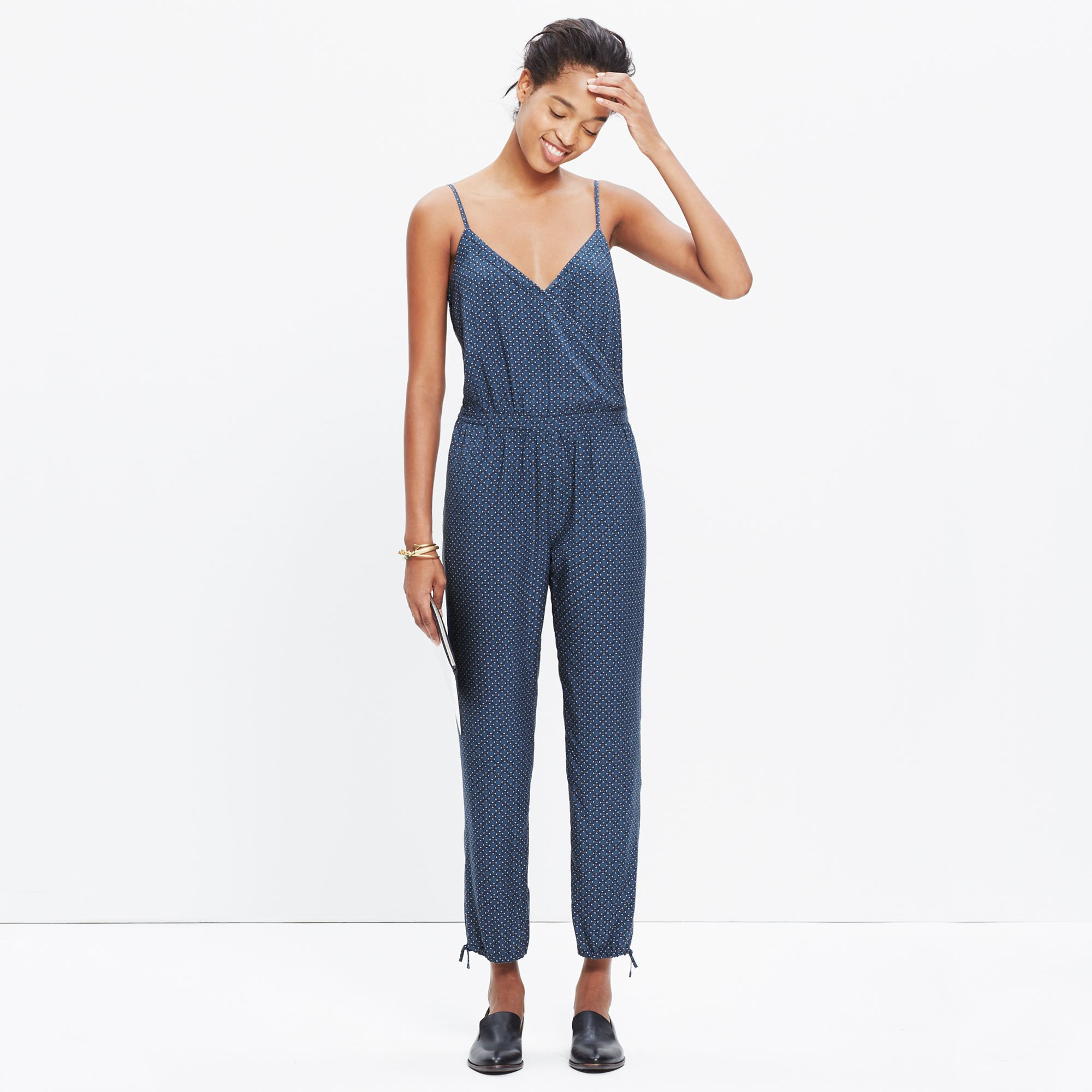 abb14c04a758 Lyst - Madewell Faux-wrap Cami Jumpsuit In Sundial in Blue