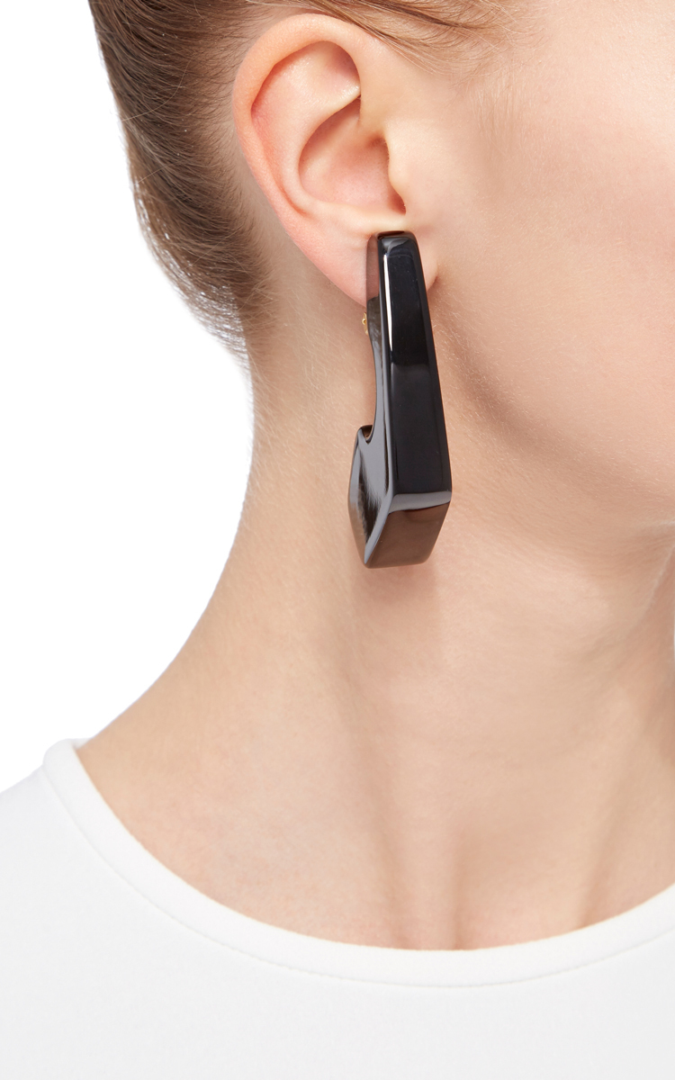 Marni Resin Geometric Earrings In Black