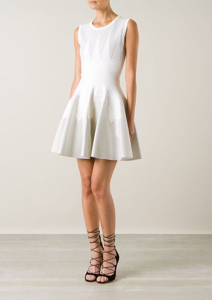 Alaia White Dress Azzedine Alaa White Wool