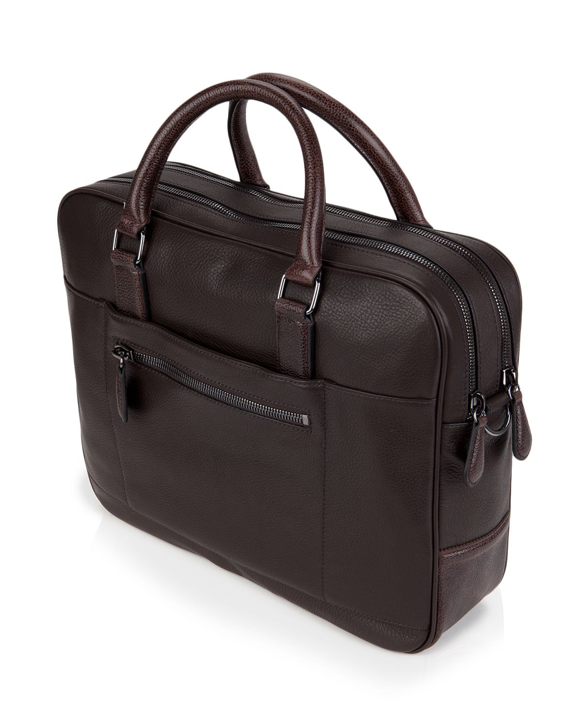 Ted baker picton leather document bag in brown for men lyst for Ted baker london leather document bag