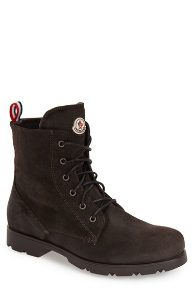 moncler vancouver suede boots in brown for lyst