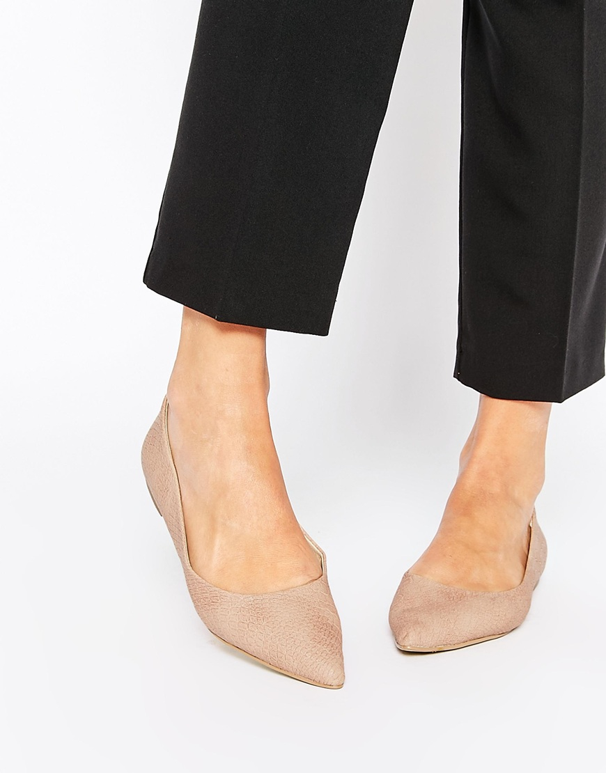 ASOS Life Story Pointed Ballet Flats in