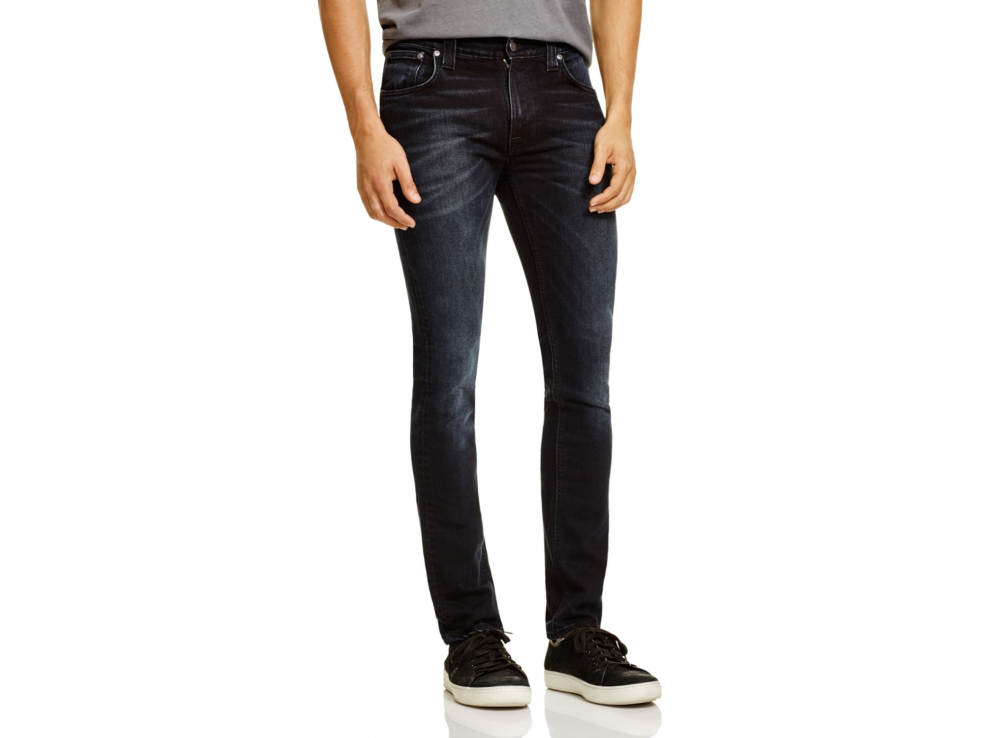 Nudie Jeans Thin Finn Slim Fit Jeans In Mortal Indigo in Blue for Men
