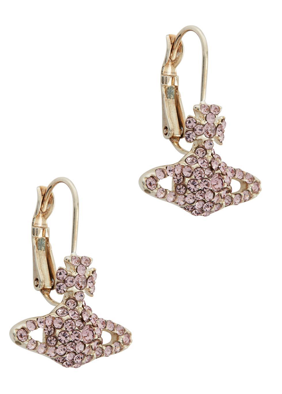 Vivienne Westwood Grace Bas Relief Silver Tone Orb Earrings