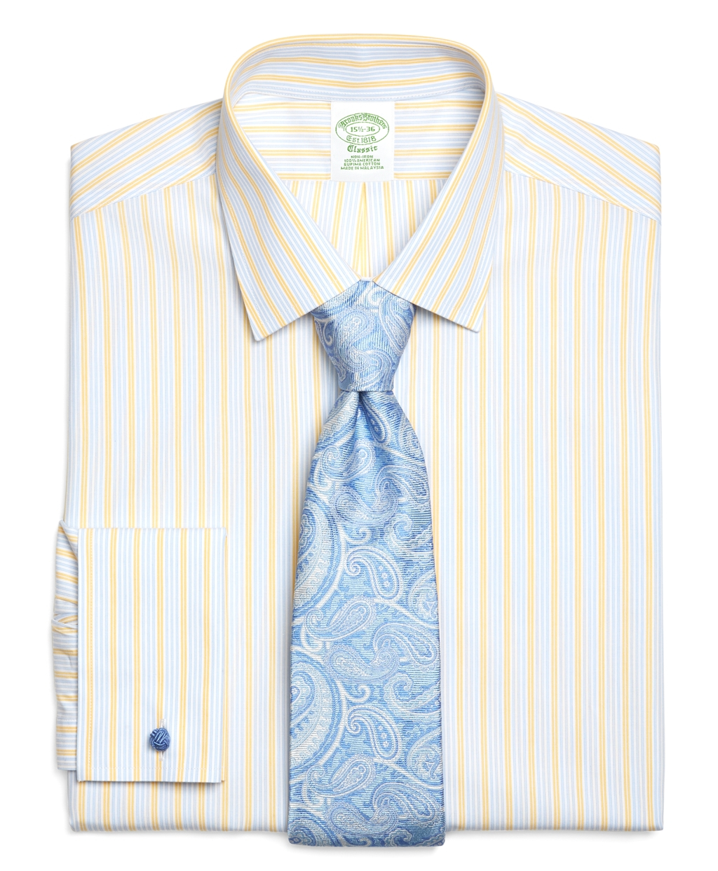 Brooks brothers supima cotton noniron slim fit spread for French cuff slim fit dress shirt