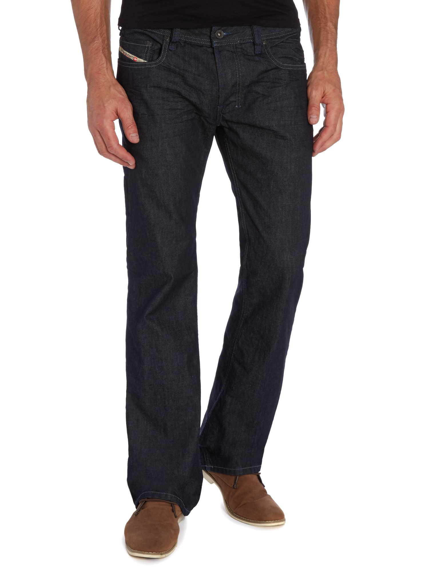 Diesel Zatiny 88z Bootcut Jeans in Black for Men | Lyst