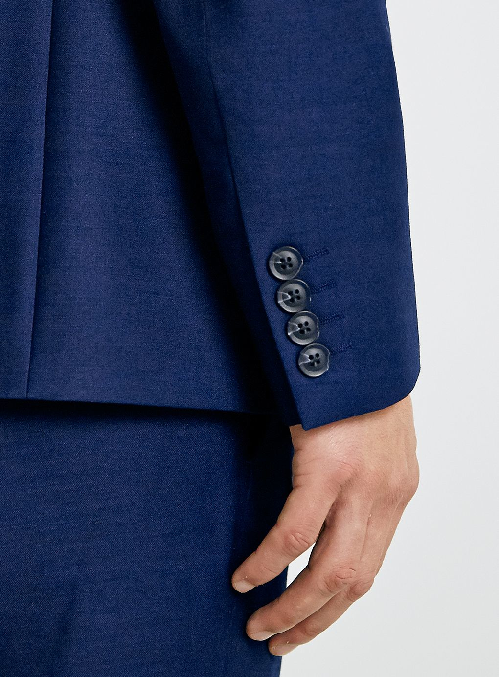 TOPMAN Skinny Fit Suit Jacket With Topstitch in Dark Blue (Blue) for Men