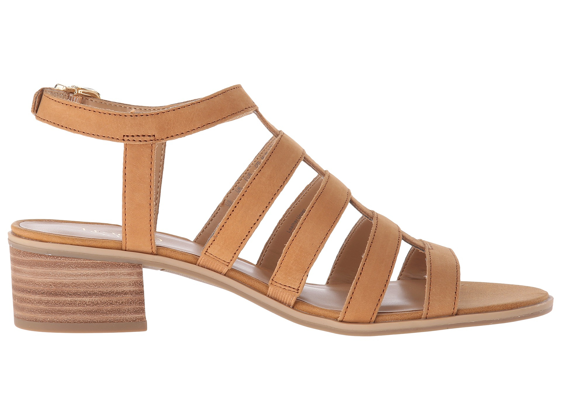 Franco Sarto Oriele Gladiator Sandals In Brown Lyst