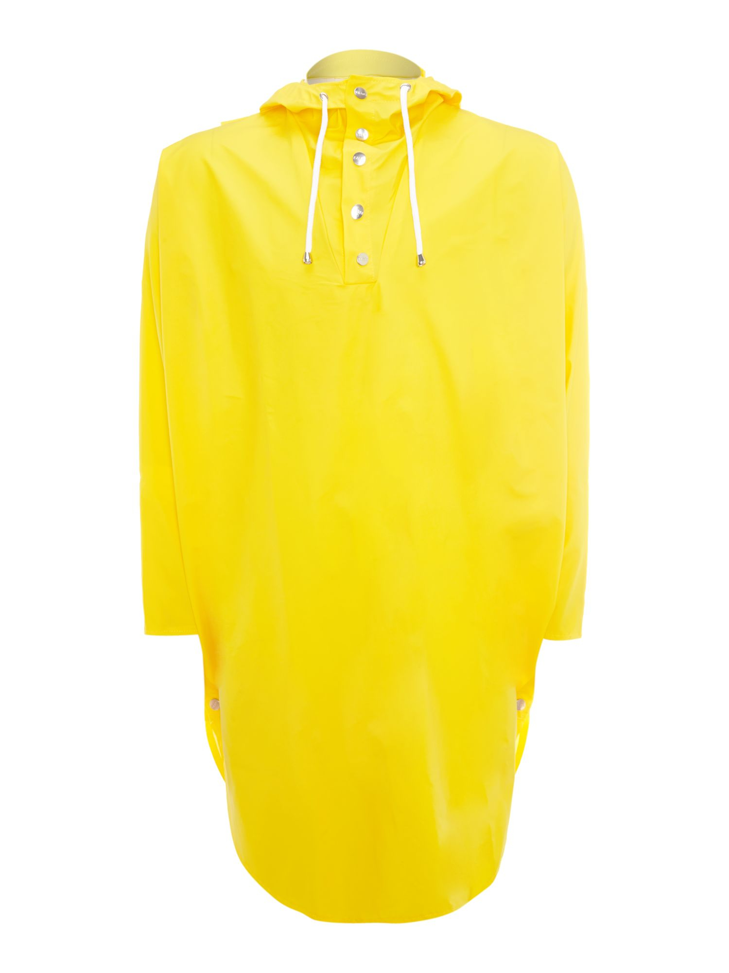 Rains Poncho Button Up Toggle Hooded Mac In Yellow For Men