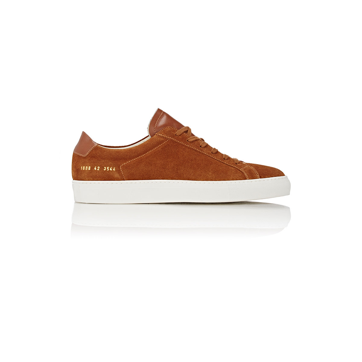 common projects achilles premium leather and suede low top sneakers in brown for men lyst. Black Bedroom Furniture Sets. Home Design Ideas
