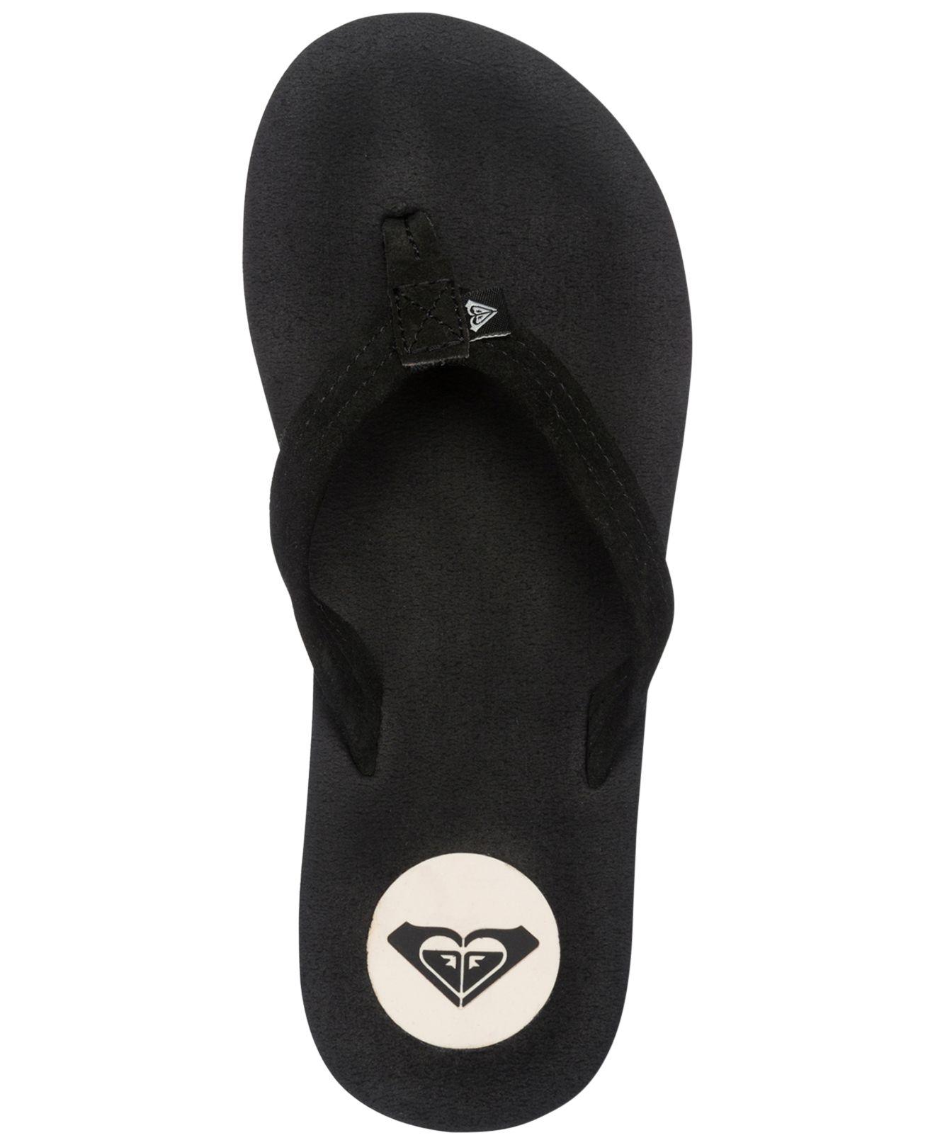 Roxy Black Flip Flops