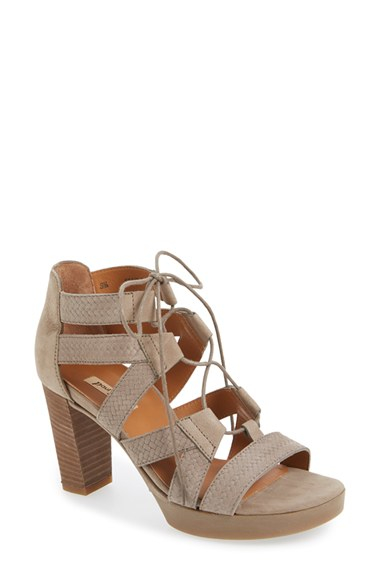 Lyst Paul Green Hana Lace Up Sandal In Brown