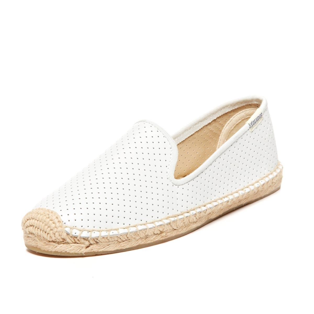 8a3fffdf4 Soludos Perforated Leather Smoking Slipper in White - Lyst