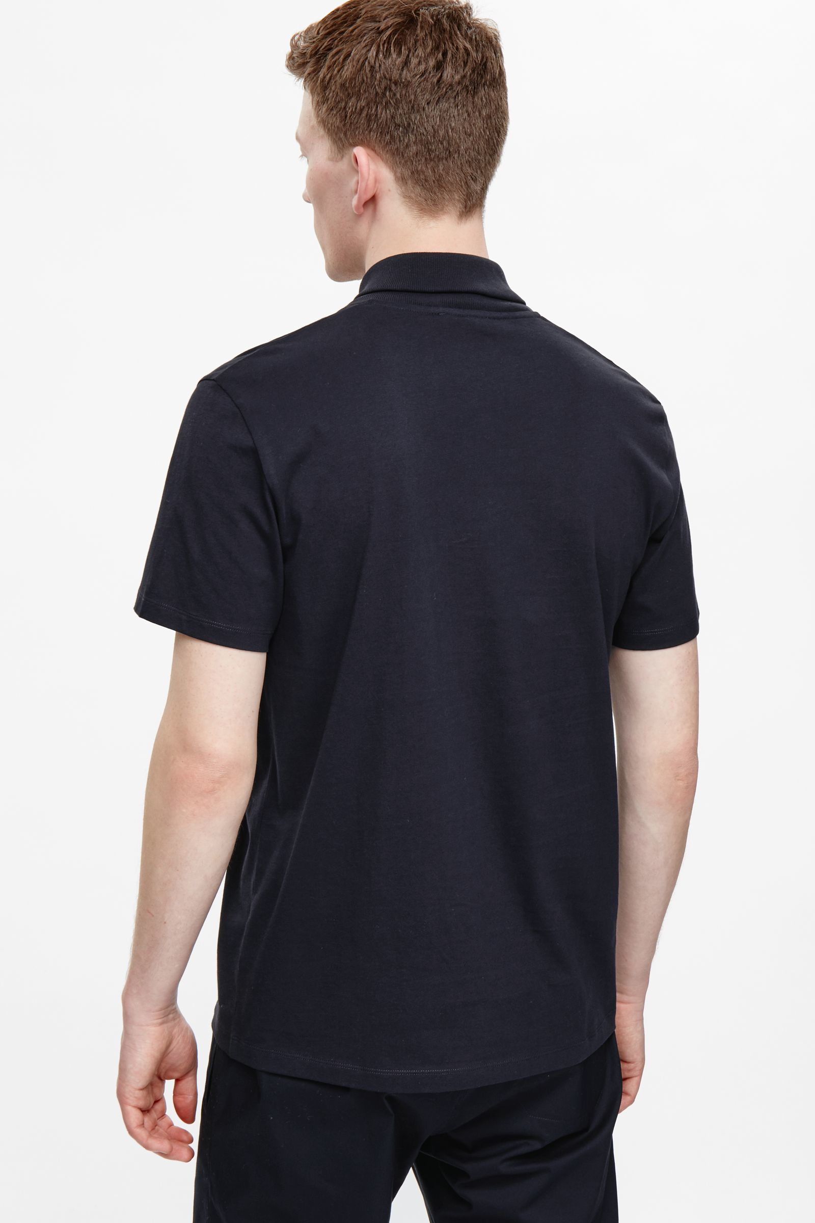 Cos shawl collar t shirt in black for men indigo lyst for Shawl collar t shirt
