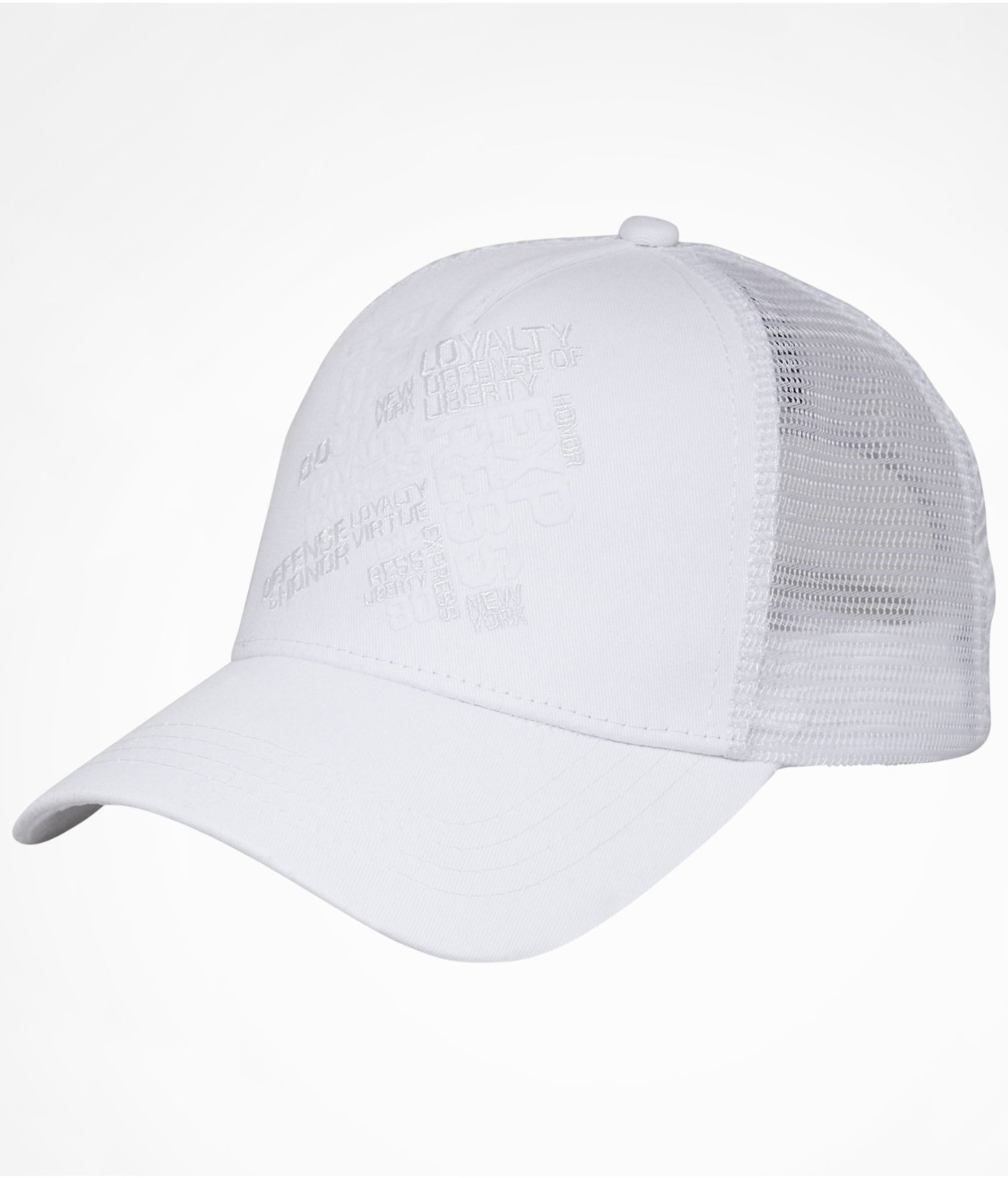 Express Curved Bill Trucker Hat In White For Men Lyst