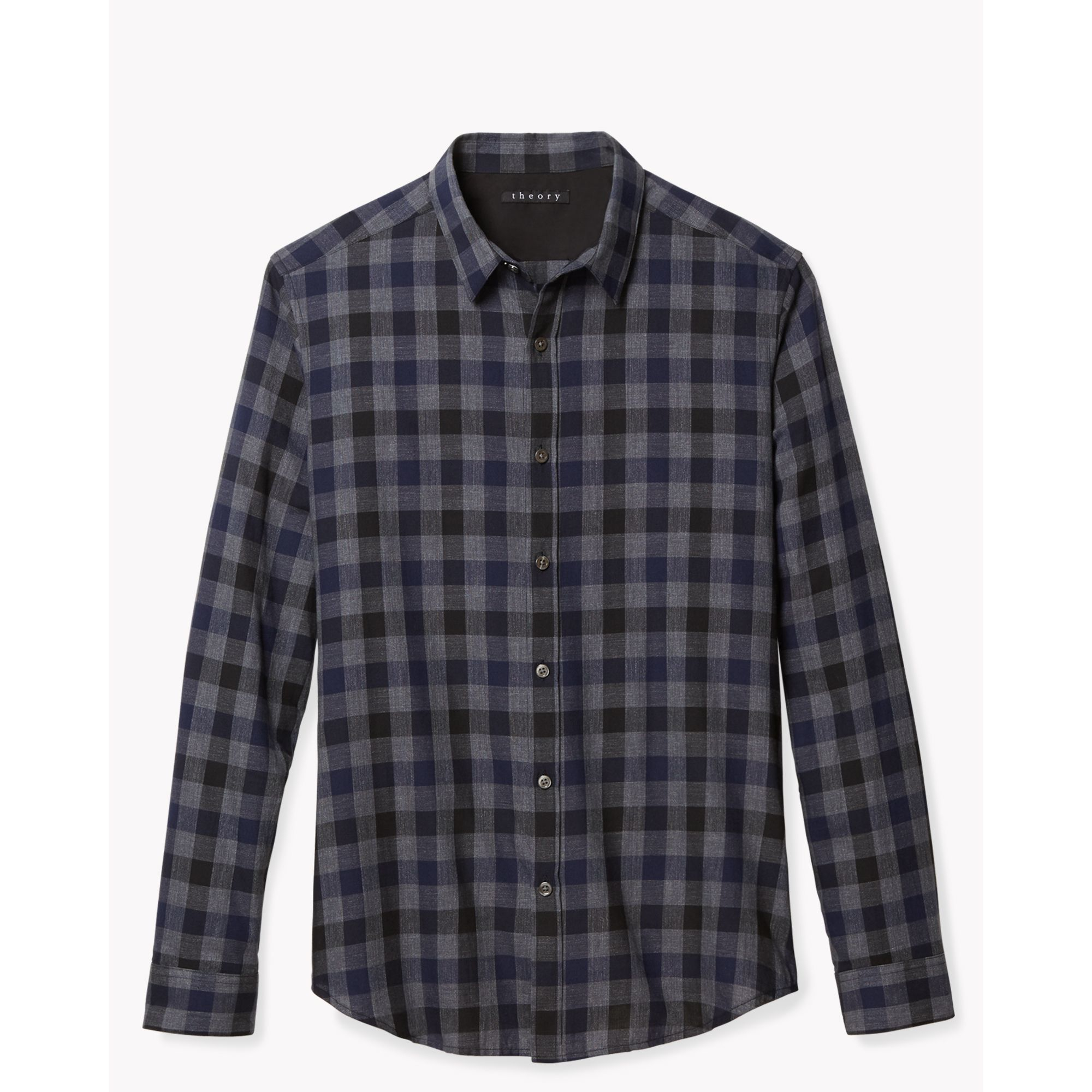 Lyst theory zack ps shirt in verlyn in blue for men for Bear river workwear shirts
