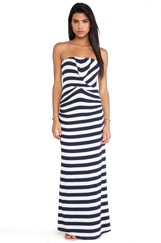 Ella Moss Isla Striped Strapless Maxi Dress In Blue Lyst