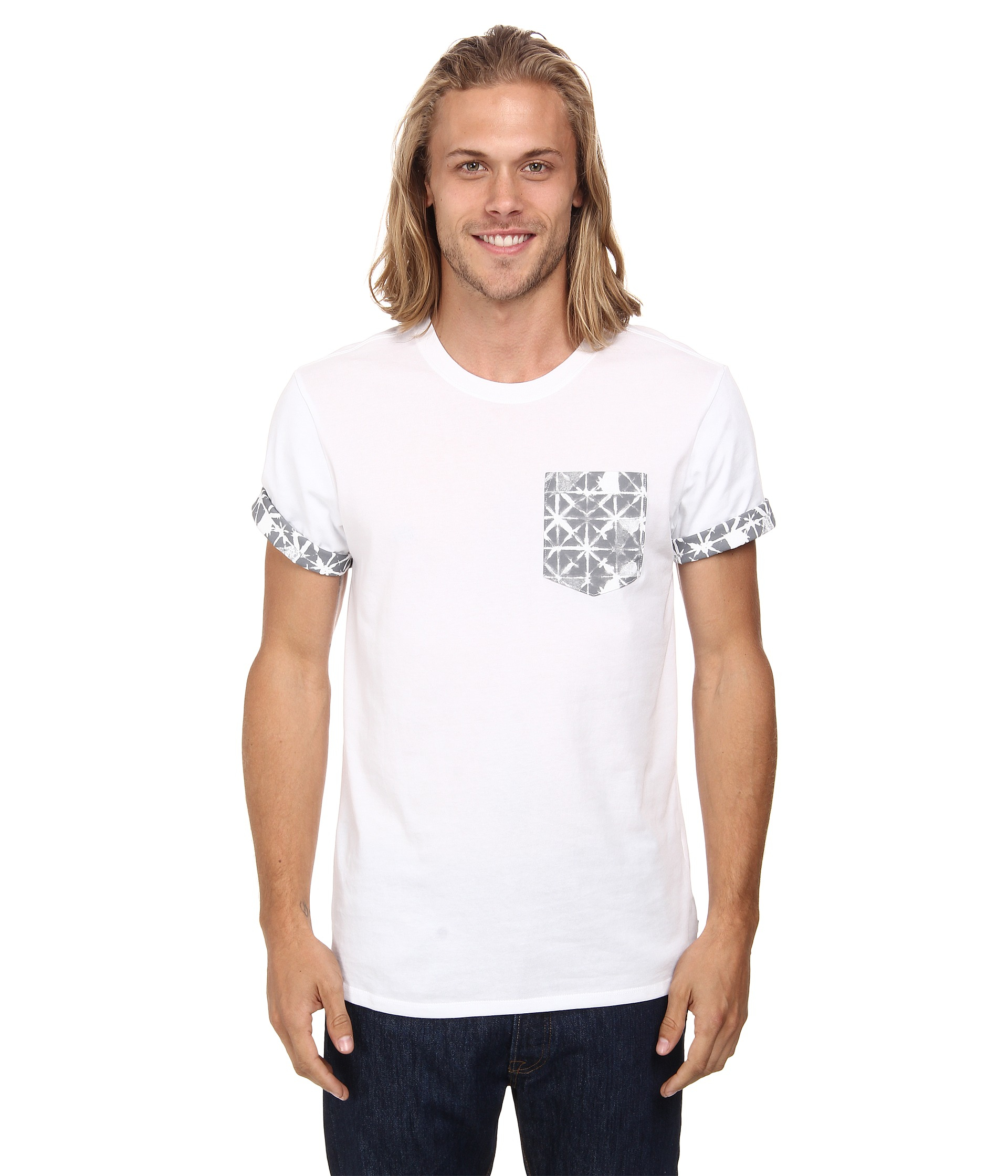 cf6ca653c Nike Dri-fit Sb Geo Dye Pocket Tee in White for Men - Lyst