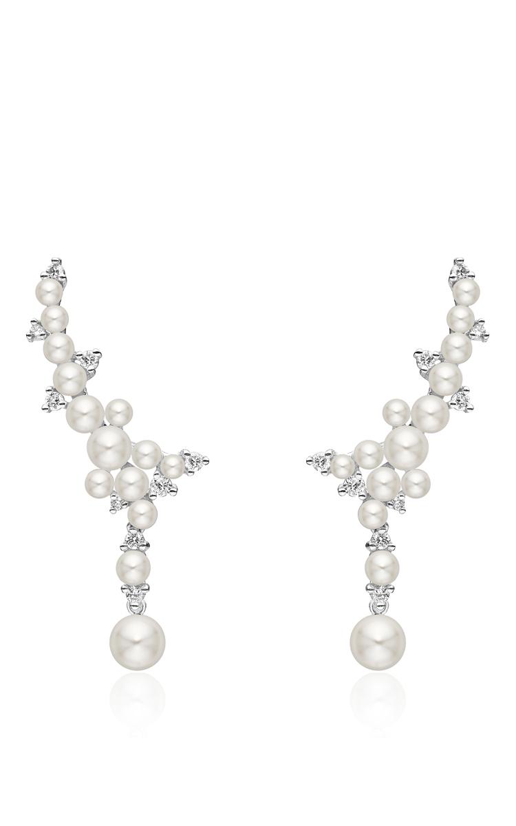 Paul Morelli Lagrange Pearl & Diamond Cluster Earrings XdQ4s0m