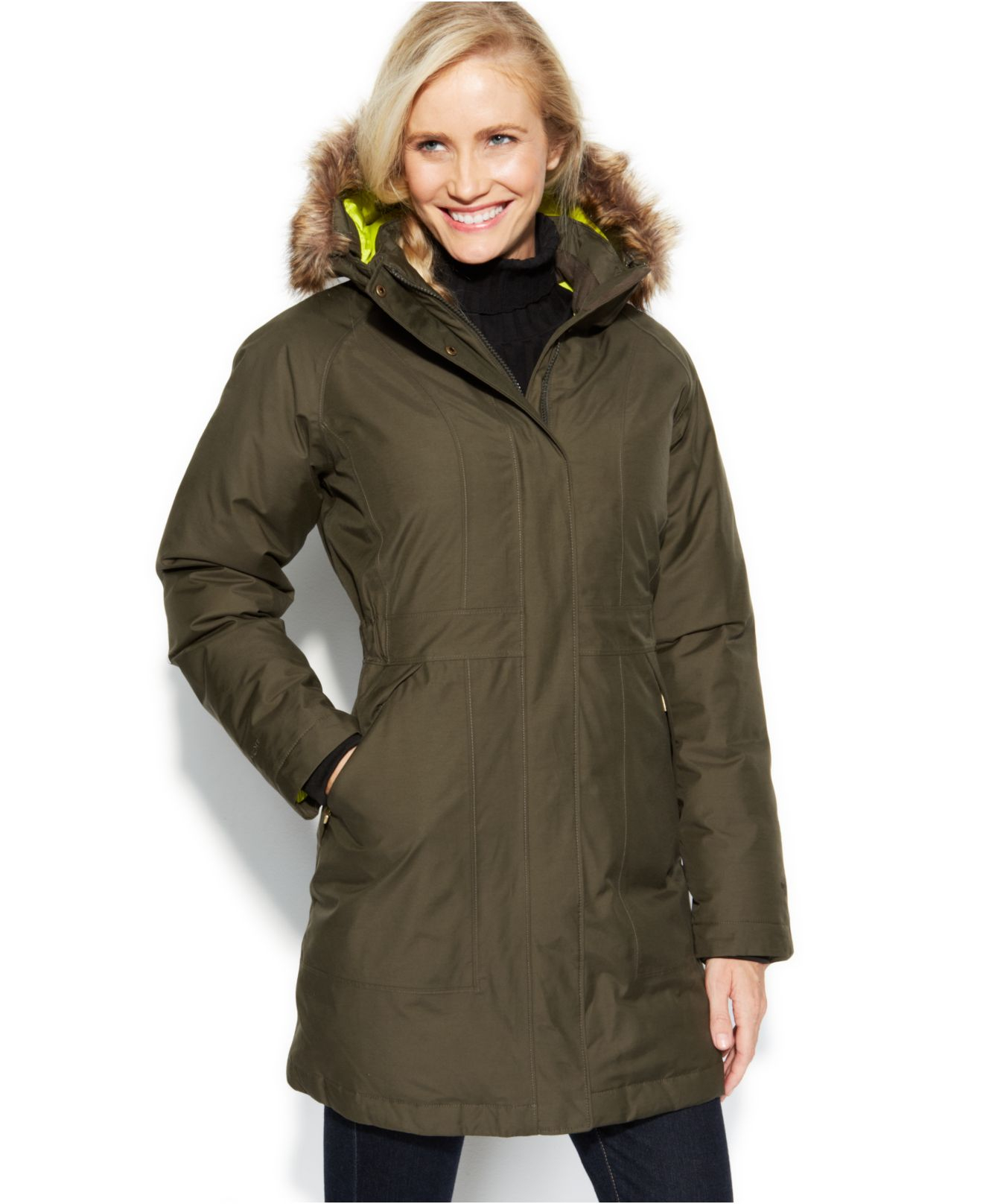 north face womens arctic down parka jacket for sale ...