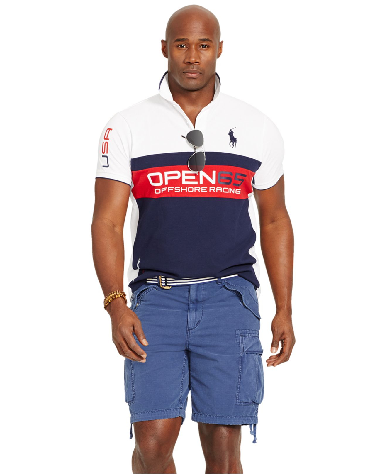 Polo Ralph Lauren Big And Tall Classic Fit Pieced Mesh